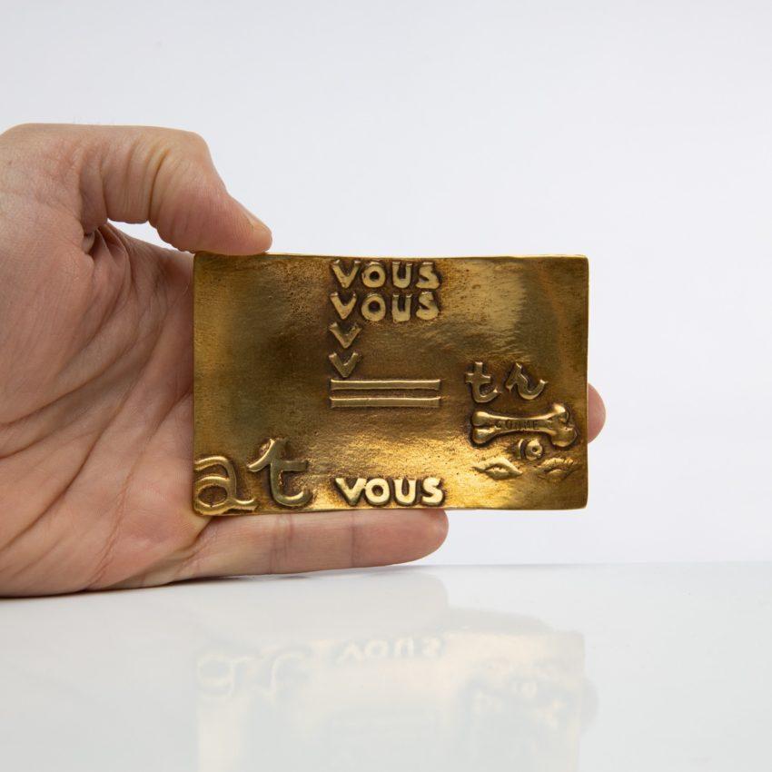 Vous vous devez de traiter Eros comme un Dieu, hâtez-vous by Line Vautrin - gilded bronze trinket bowl - France - 09