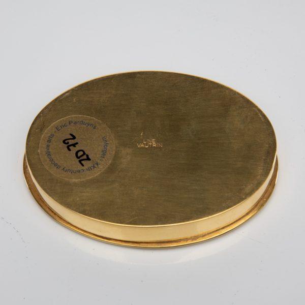 La fille aux nattes gilded bronze compact, Line Vautrin France - 10