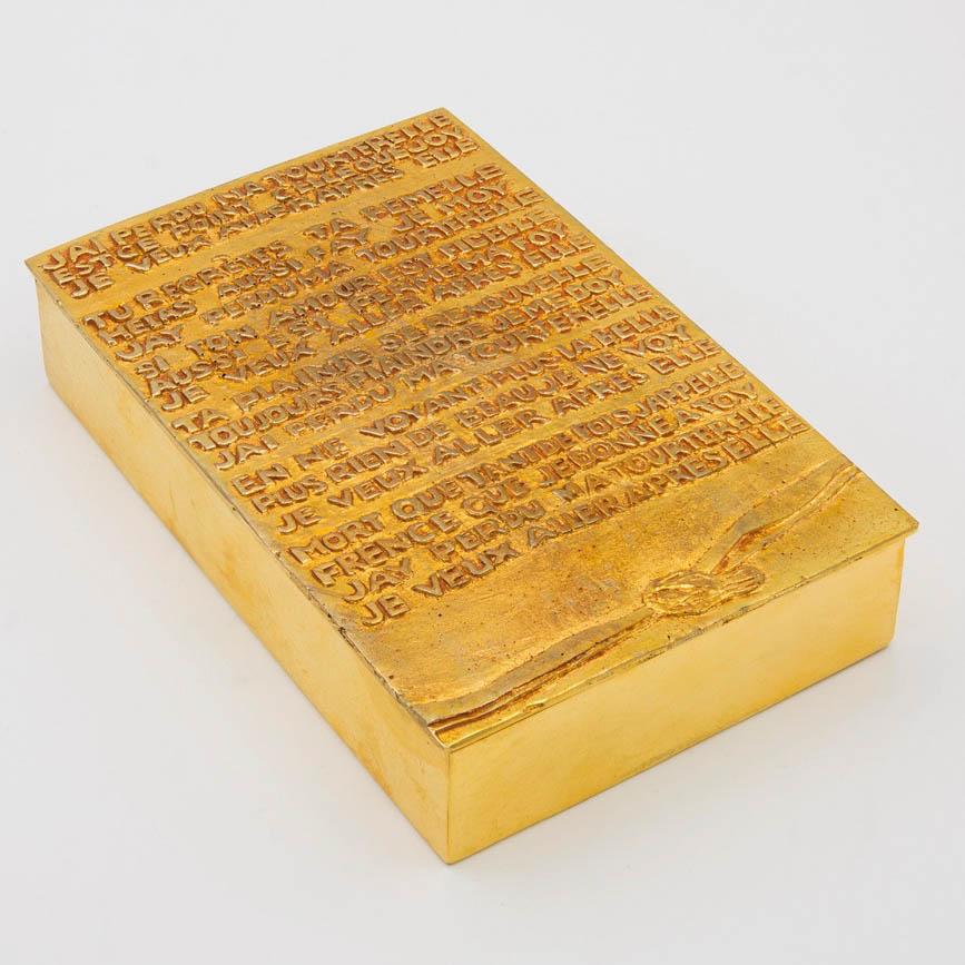 J'ai perdu ma tourterelle gilded bronze box Line Vautrin - 07