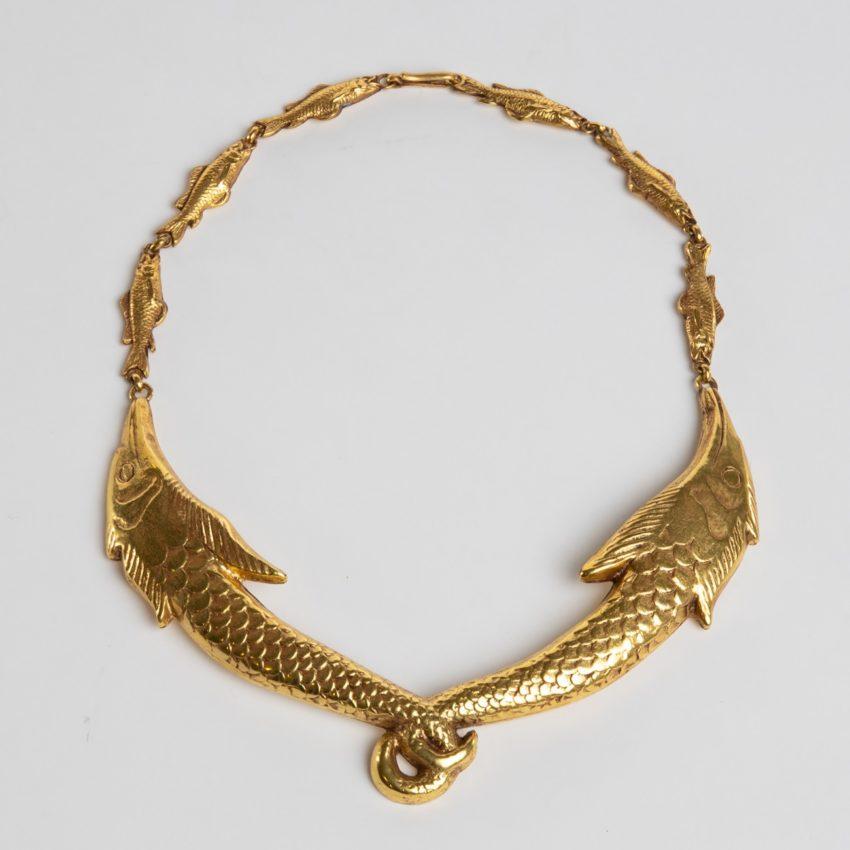 COD12_40 Les petits poissons deviendront grands necklace Line Vautrin-1