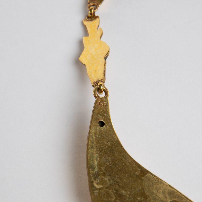 COD12_40 Les petits poissons deviendront grands necklace Line Vautrin-3