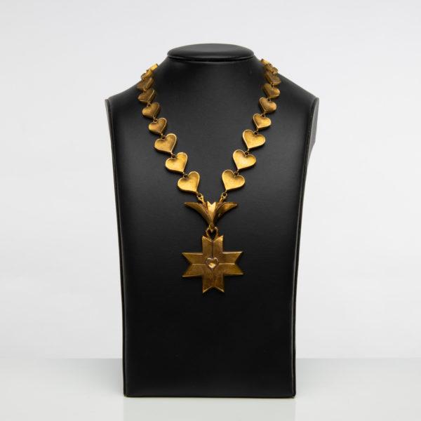Le Saint Esprit by Line Vautrin - gilded bronze necklace - France - 02