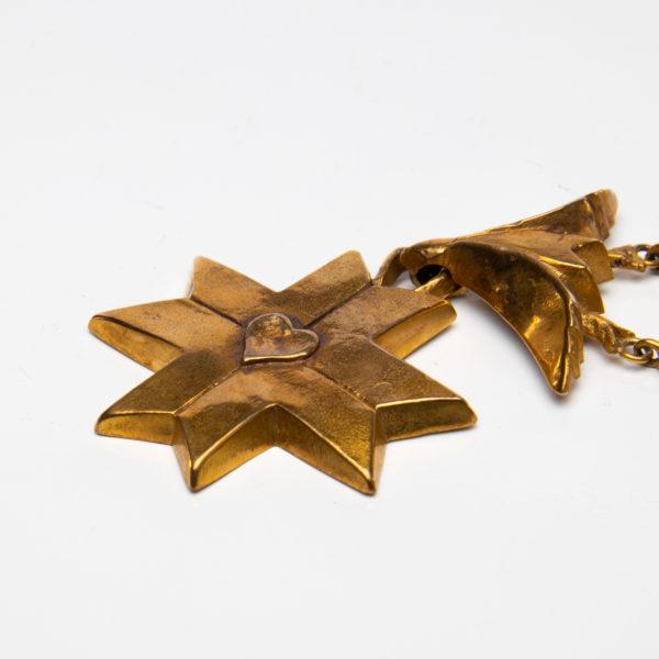 Le Saint Esprit by Line Vautrin - gilded bronze necklace - France - 010