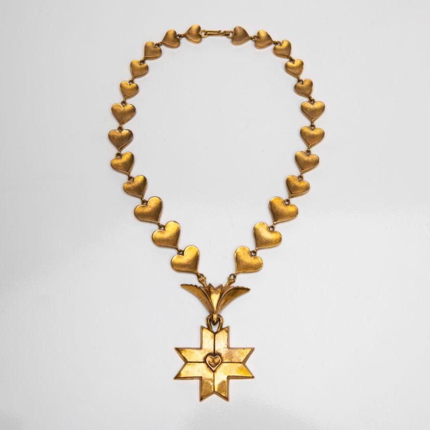 Le Saint Esprit by Line Vautrin - gilded bronze necklace - France - 01
