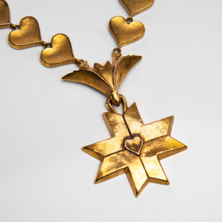 Le Saint Esprit by Line Vautrin - gilded bronze necklace - France - 03