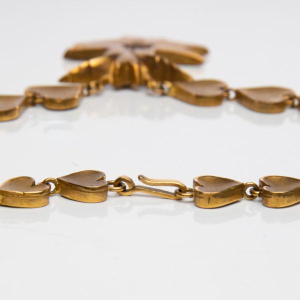 Le Saint Esprit by Line Vautrin - gilded bronze necklace - France - 04