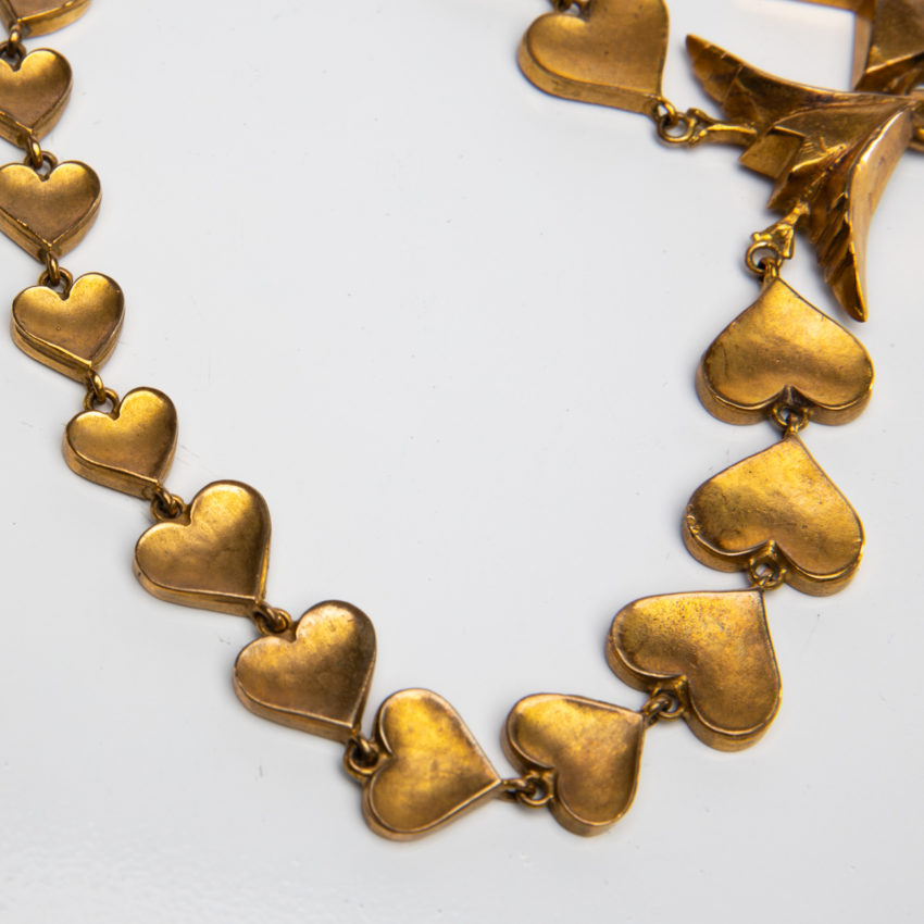 Le Saint Esprit by Line Vautrin - gilded bronze necklace - France - 05