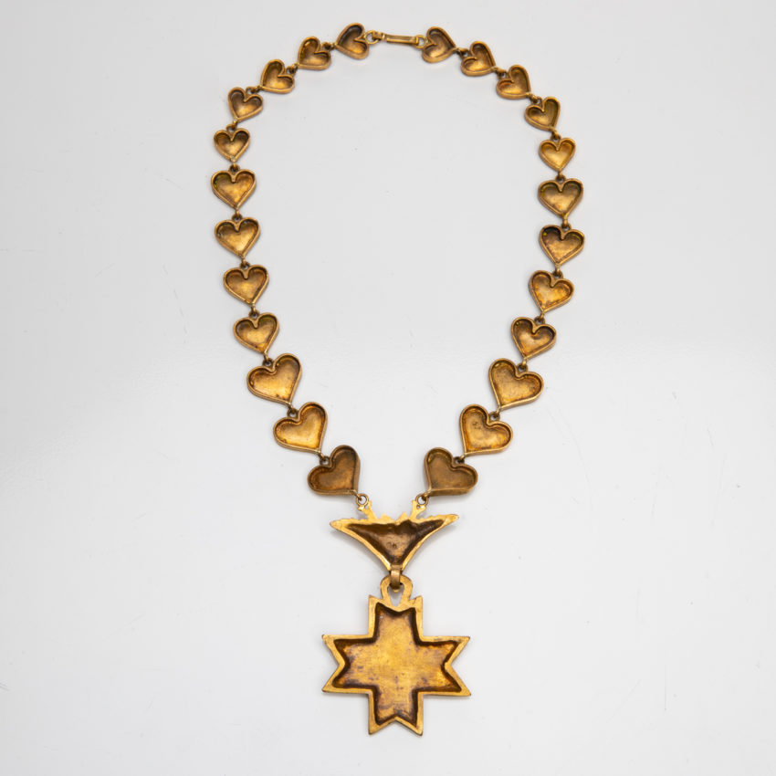 Le Saint Esprit by Line Vautrin - gilded bronze necklace - France - 06