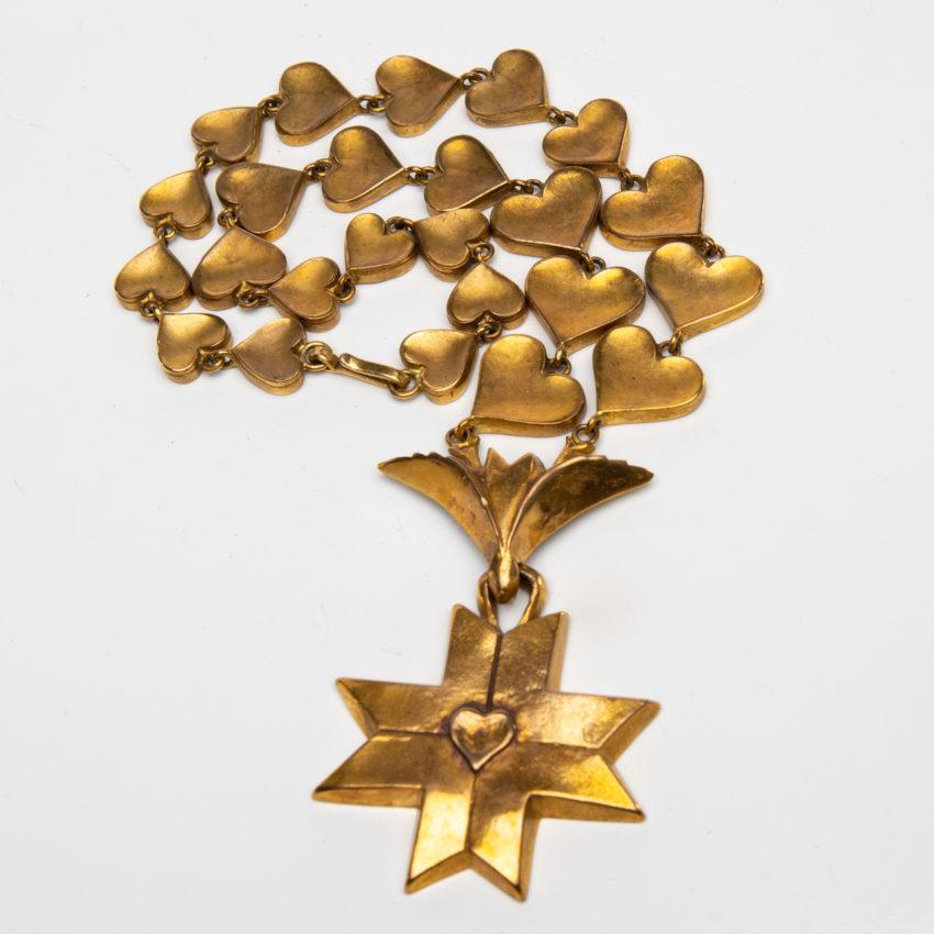 Le Saint Esprit by Line Vautrin - gilded bronze necklace - France - 08