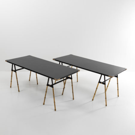 Pair of cocktail tables or sofa ends by Jacques Adnet - 09