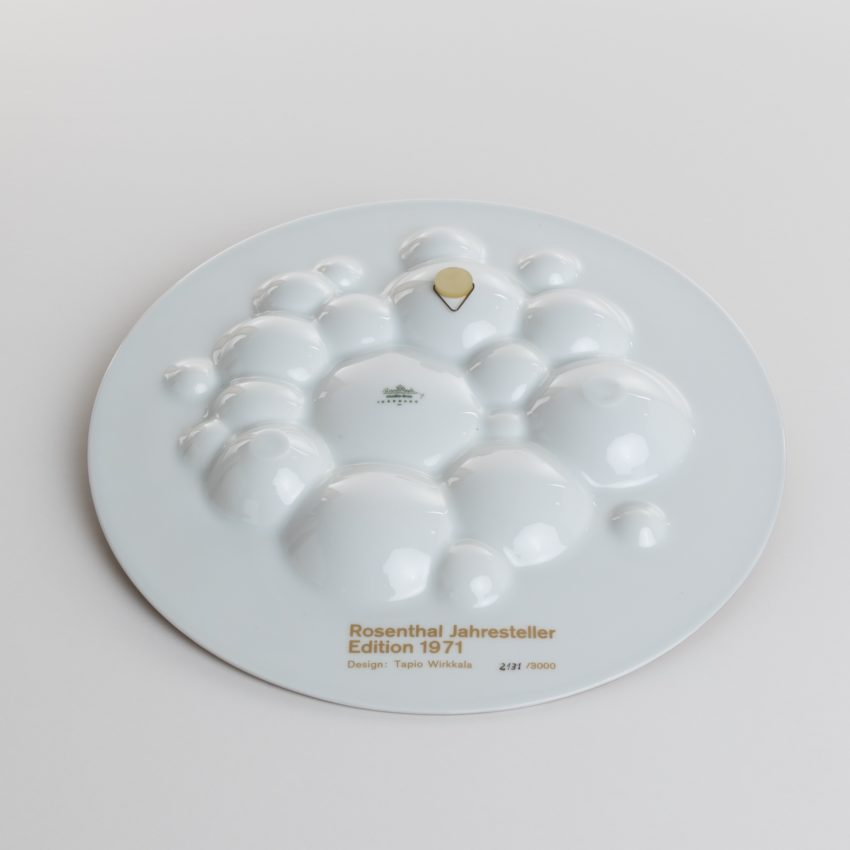 Porcelain wall decoration by Tapio Wirkkala - annual limited edition 1971 for Rosenthal Germany - 05