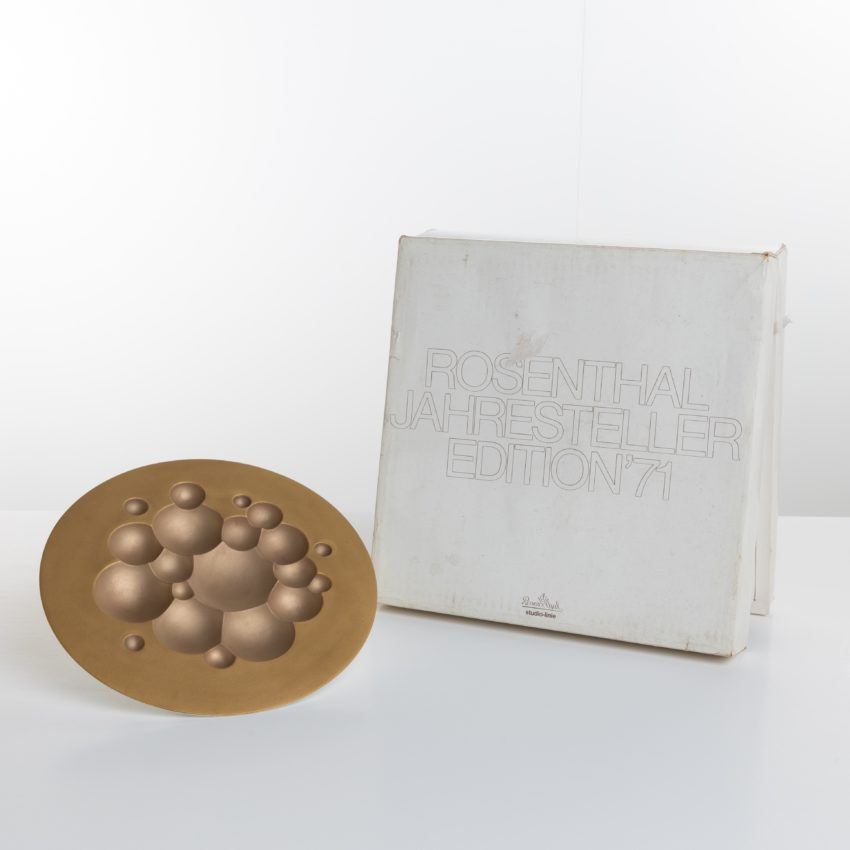 Porcelain wall decoration by Tapio Wirkkala - annual limited edition 1971 for Rosenthal Germany - 08
