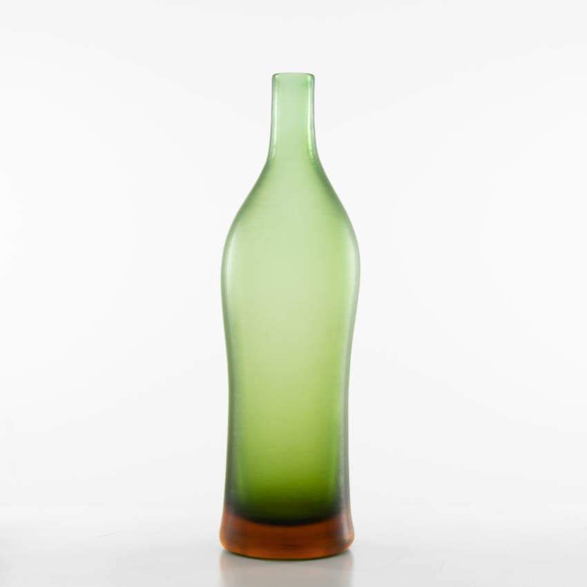 Inciso bottled vase model 4815 erba color Paolo Venini - 01