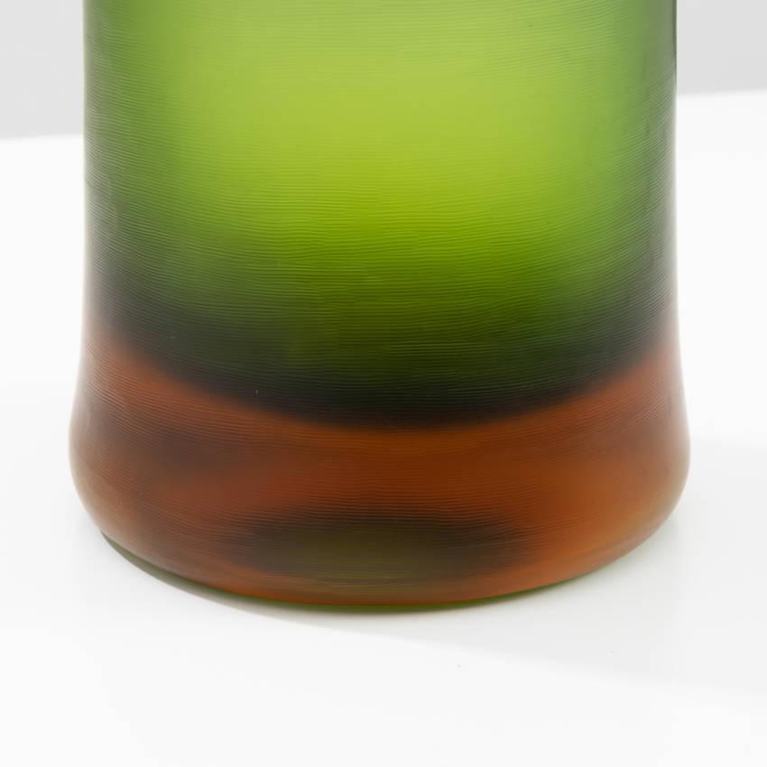 Inciso bottled vase model 4815 erba color Paolo Venini - 07