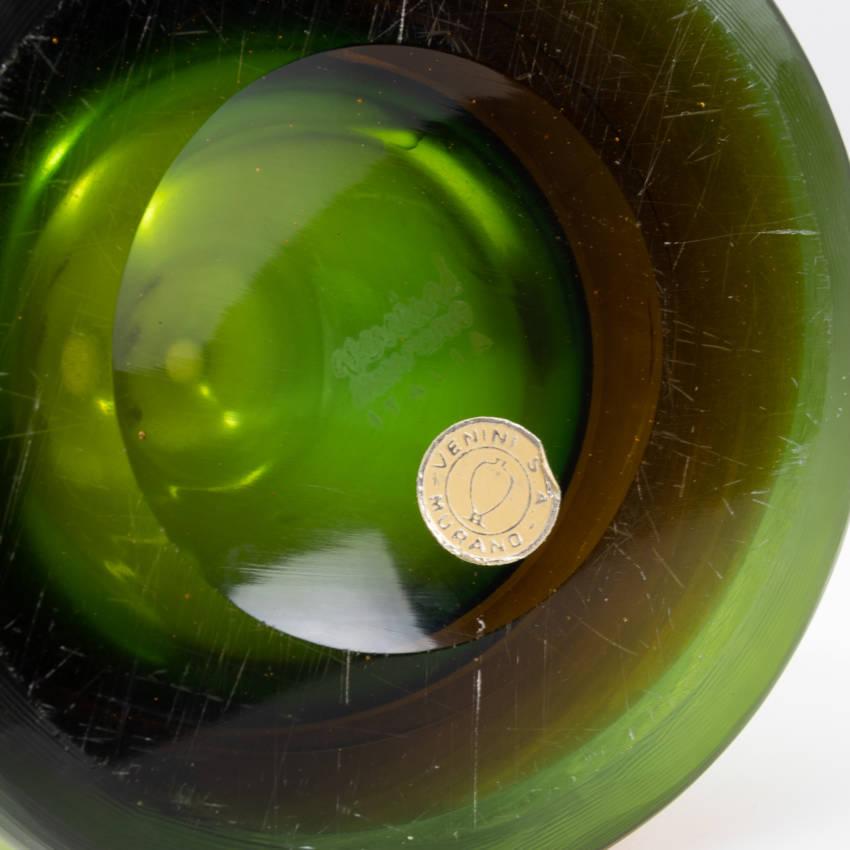 Inciso bottled vase model 4815 erba color Paolo Venini - 10