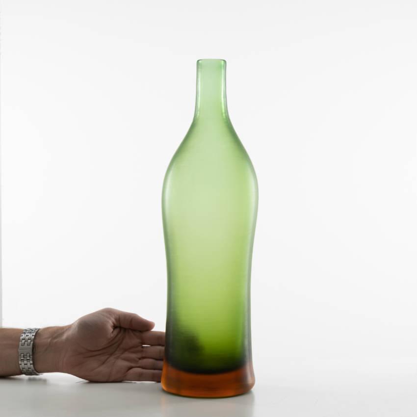 Inciso bottled vase model 4815 erba color Paolo Venini - 11