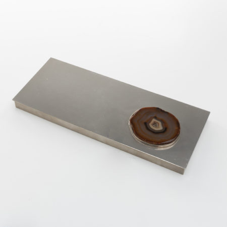 Large decorative box in silvered metal - Maria Pergay - UE9_40-01